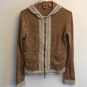 Tory Burch Hooded Sports Boho Embroidered Jacket